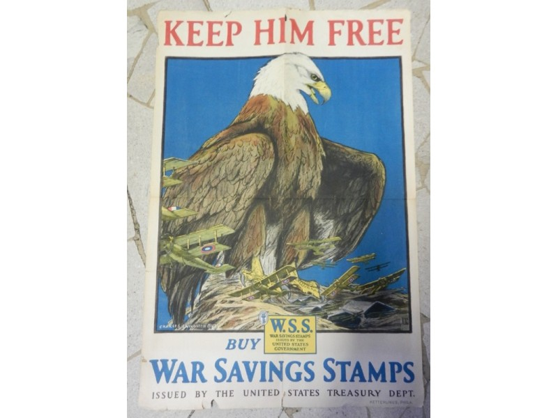 KEEP HIM FREE - BUY WAR SAVINGS STAMPS